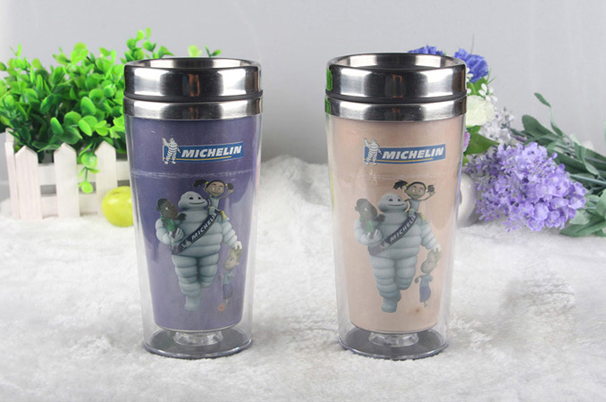 Michelin double wall color changing stainless steel travel mug