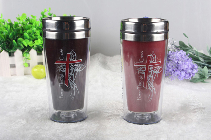 450ml Creative tempreture heat color changing stainless steel double wall mug