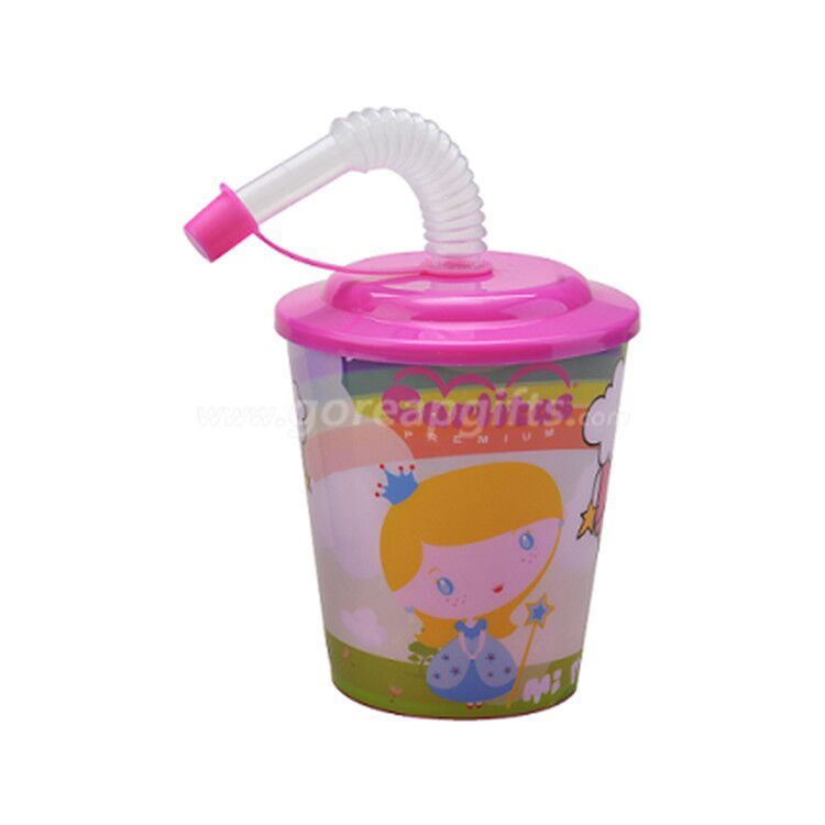 Foodgrade safe  3D lenticular plastic resuable cup with lid