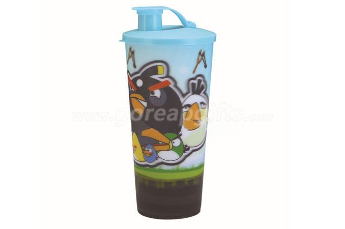 Hot sale cartoon 3D lenticular plastic drinking straw cup