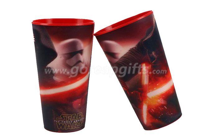 Ecofriendly PP plastic 3d lenticuar 600ml  plastic cup