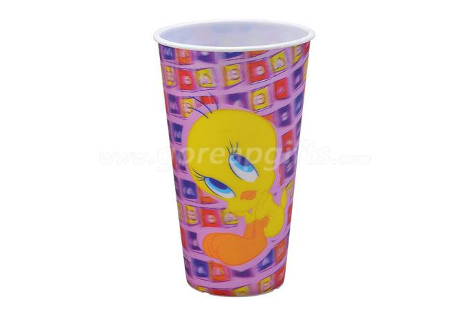 3D lenticular plastic resuable cup with customzied design