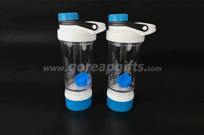 BPA free custom logo PP plastic fitness shaker joyshaker water bottle