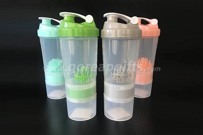 Bpa Free Plastic Protein Shake Mixer Shaker Bottle with Ball