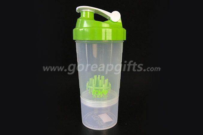 BPA free custom logo  PP plastic  shaker  water bottle  manufacturer