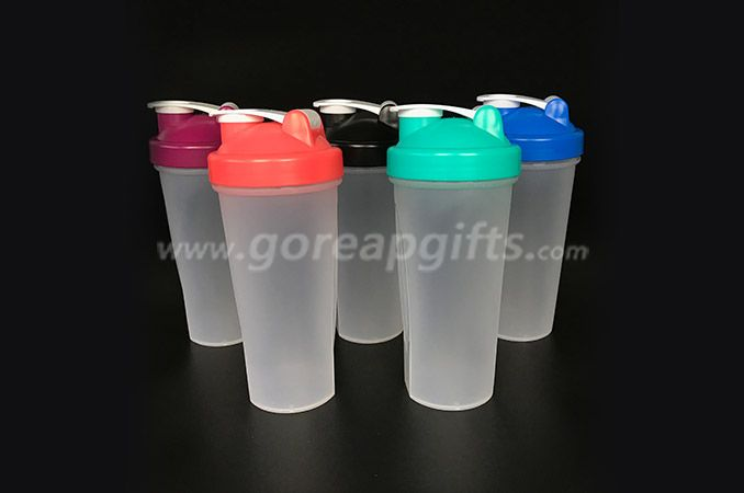 BPA free custom logo  PP plastic  shaker  water bottl  manufacturer