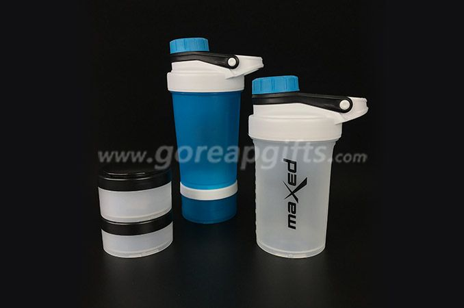 600ml Bpa Free Plastic Protein Shake Mixer Shaker Bottle with Ball
