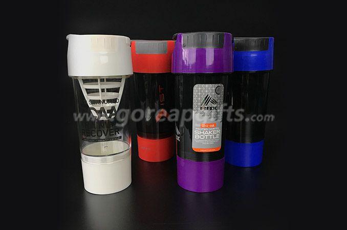 600ml Bpa Free Plastic Protein Shake Mixer Shaker Bottle with Ball
