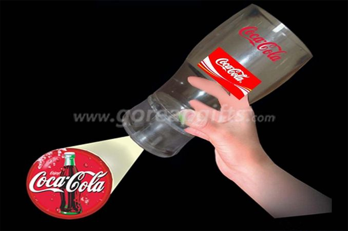 Coca Cola 12oz Projector LED flashing cup with logo