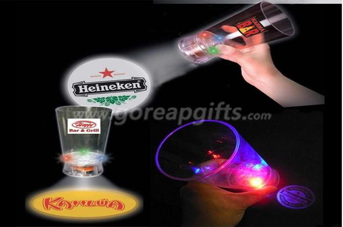 Projector LED flashing cup with logo , 12oz led plastic cup,led glowing cup