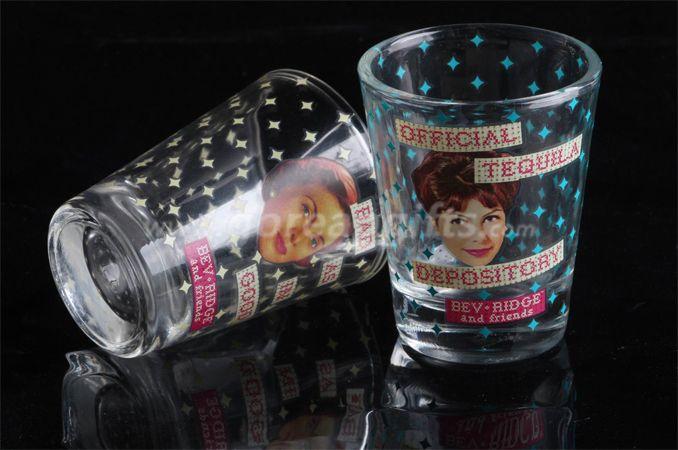 60ml Water/Whiskey/Wine/Beer/Shot/Liquor Logo Print Shot Glass set of 4pcs