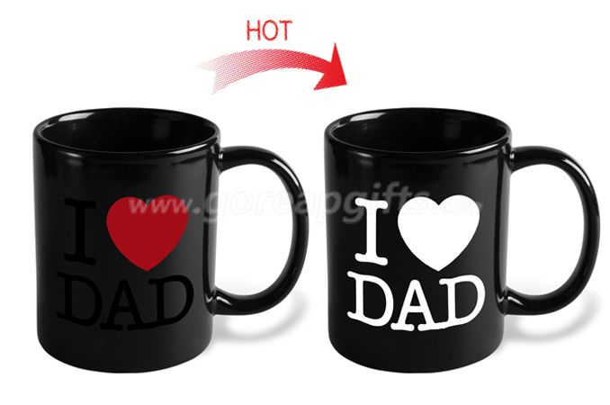 Heat Sensitive Mug | Color Changing Coffee Mug |  Love  Coffee Cup | Birthday Gift Idea for Him  for  Father's Day Gift for Dad