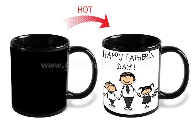 Father day  gifts  11OZ  heat changing magic ceramic mug