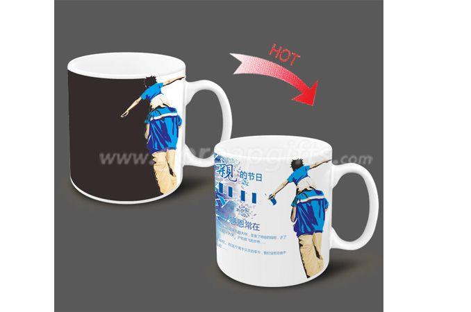 11OZ Father's Day Heat sensitive color changing ceramic mug