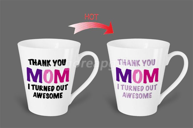 12OZ Mom   heat sensitive color changing ceramic magic mug