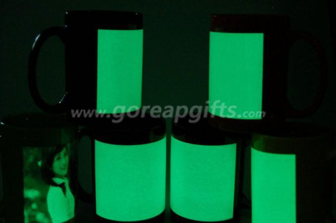 11OZ glowing plastic mugs