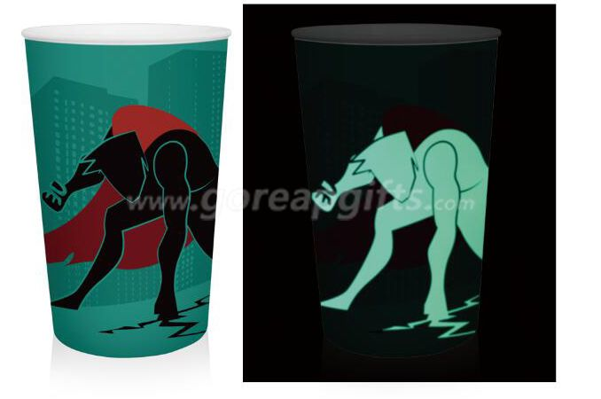 16OZ single wall  Glowing  plastic party cups