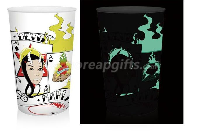 Amazing Glowing party plastic cup glow in dark