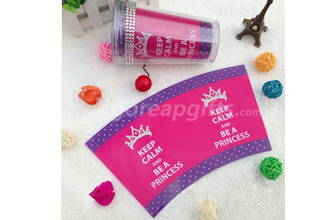 BPA free made in china wholesale glitter insert double wall plastic straw tumbler
