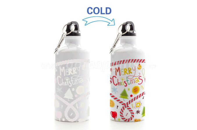 Christmas Promotional gifts color changing sports aluminum water bottle
