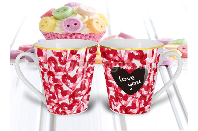 Creative 13OZ chalk ceramic mug ,message mugs