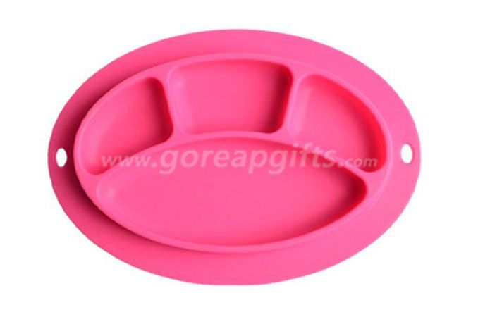 2017 high quality new design of the baby plate, anti-hot baby silicone plate