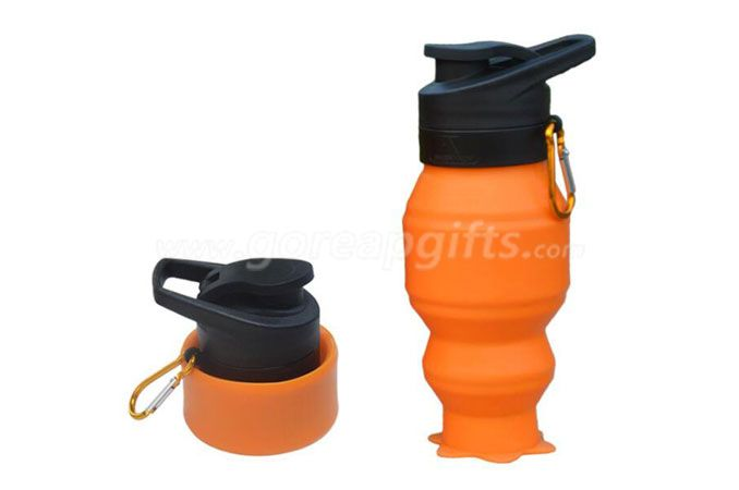 new items 2016 novelty gifts Best Eco friendly small silicon squeeze bottles foldable water bottle