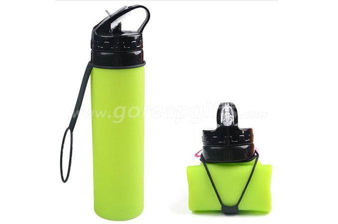 new items 2016 novelty gifts Best Eco friendly silicon squeeze bottles foldable water bottle