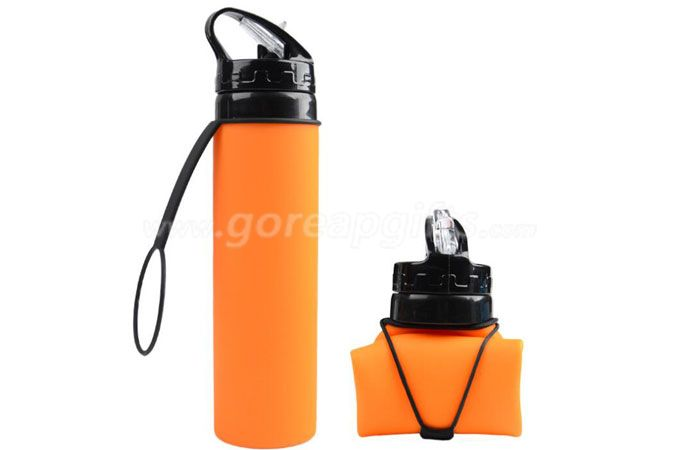 Wholesale Silicone Leak proof Collapsible Water Bottle manufacturer