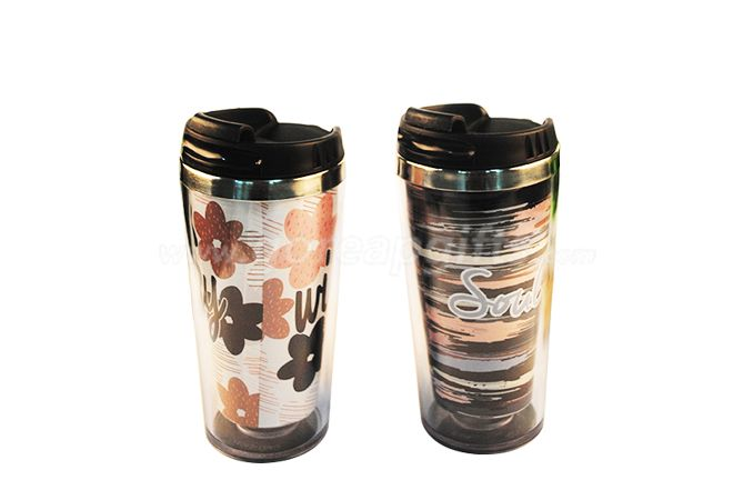 16OZ double wall hot  color changing stainless steel travel mug tumbler