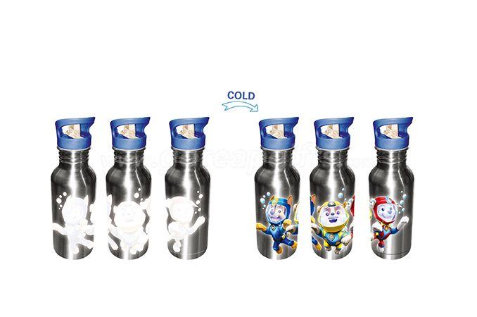 Manufacturer cold color changing aluminum water bottle