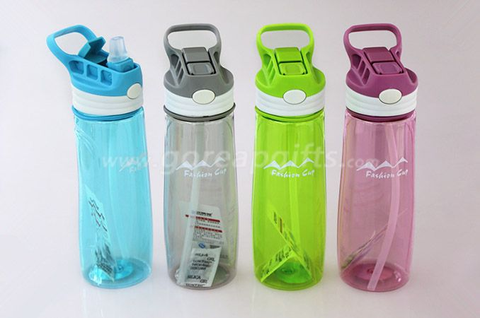 Foodgrade FDA approved sports travel plastic water bottles