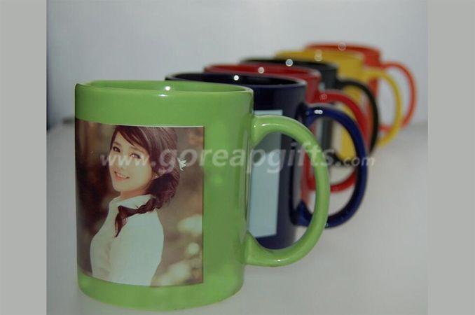 Promotional 11OZ glowing ceramic coffee  mugs,can be glowing in dark