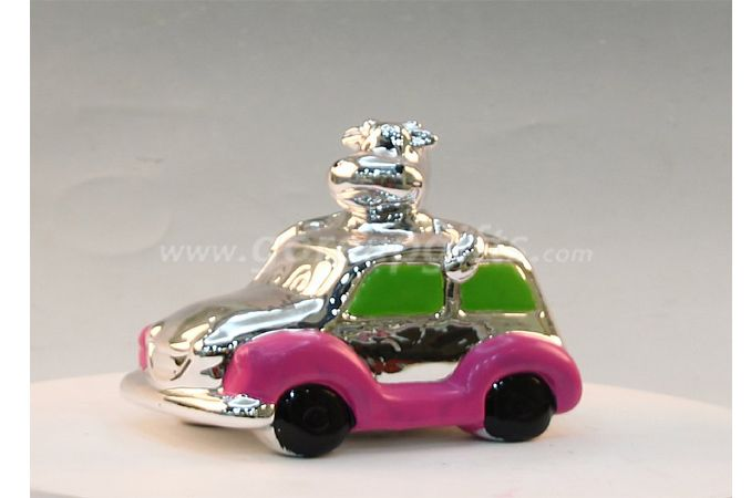 Car electroplated money box Ceramic money box,ceramic piggy bank,ceramic coin bank