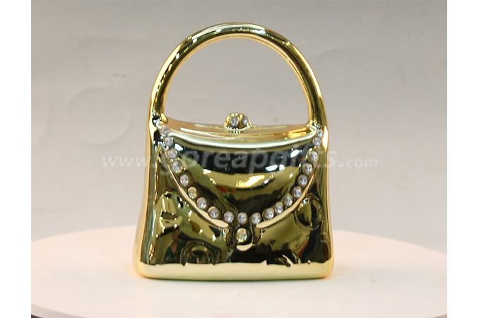 Gold bag electroplated ceramic  money box piggy bank ceramic coin bank