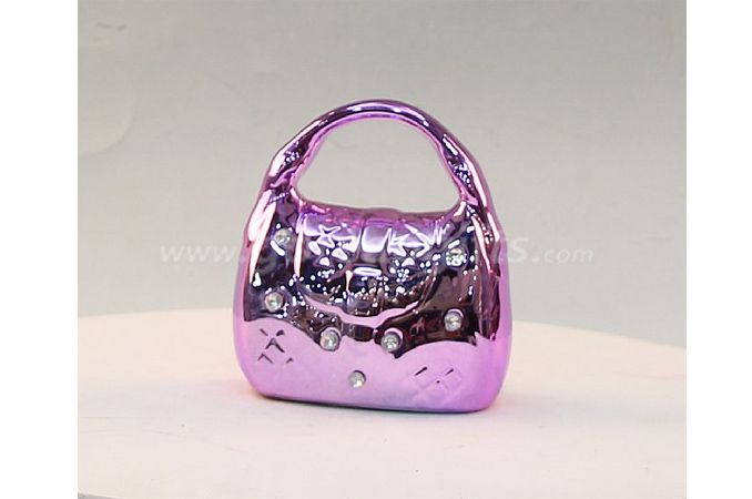 Pink Ceramic Electroplating Piggy Bank