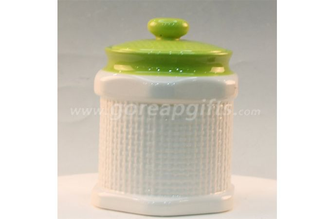 Home Decoration white ceramic jar for food candy sugar cookie