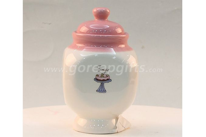 Ceramic storage Tea Coffee Sugar jars With Lid