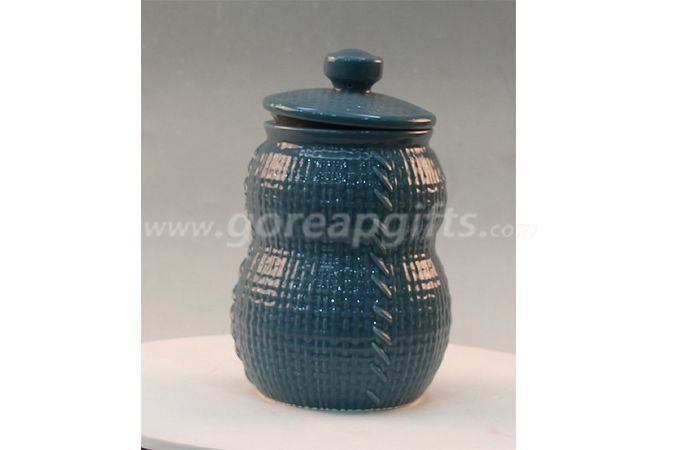 Ceramic stoneware cookie gray mini tea coffee sugar jar factory