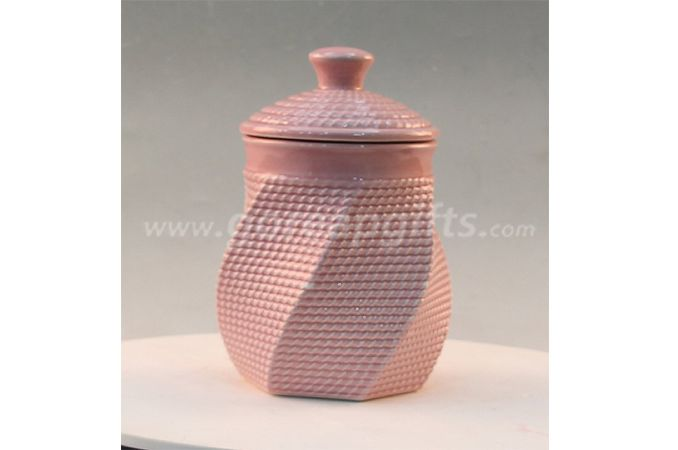 Terracotta ceramic stoneware cookie gray mini tea coffee sugar jar factory