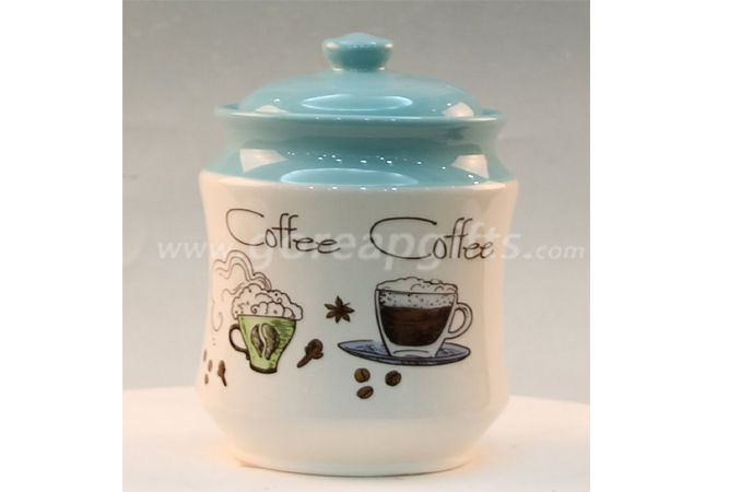 Home Decoration white ceramic jar for food candy sugar cookiess