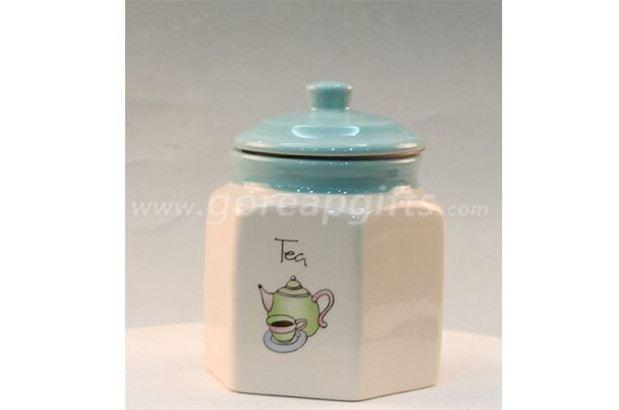 Foodsafe Home Decoration white ceramic jar for food candy sugar cookie