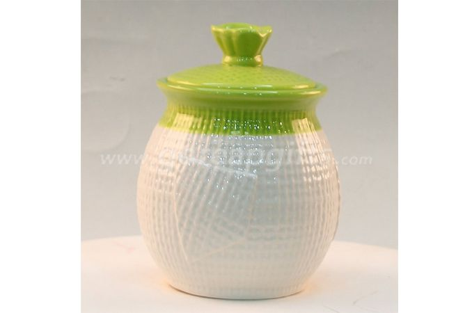 Home Decoration white ceramic jar for food candy sugar cookies