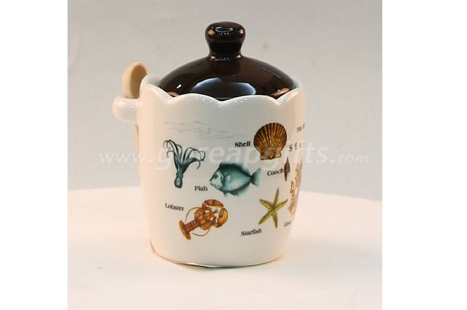 Factory produce  Home Decoration white ceramic jar for food candy sugar cookie