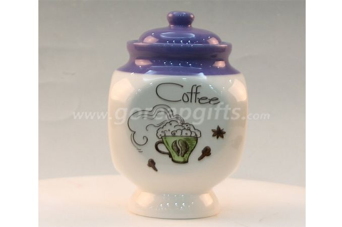 FAD approved Home Decoration white ceramic jar for food candy sugar cookie