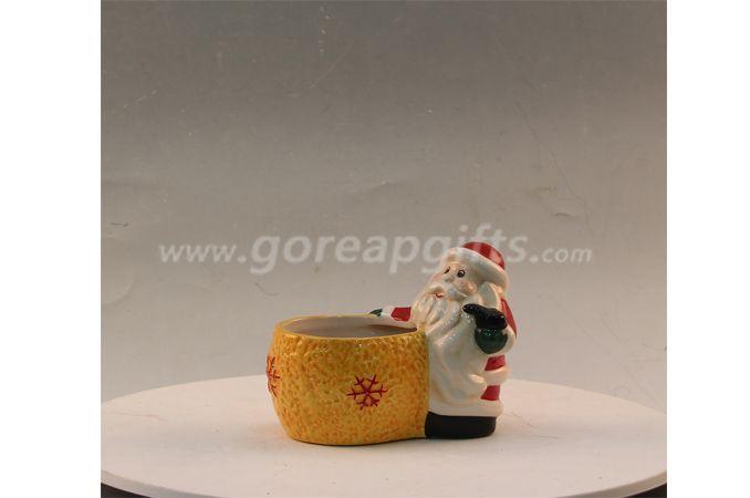 Christmas ceramic Vase and pot santaclaus design