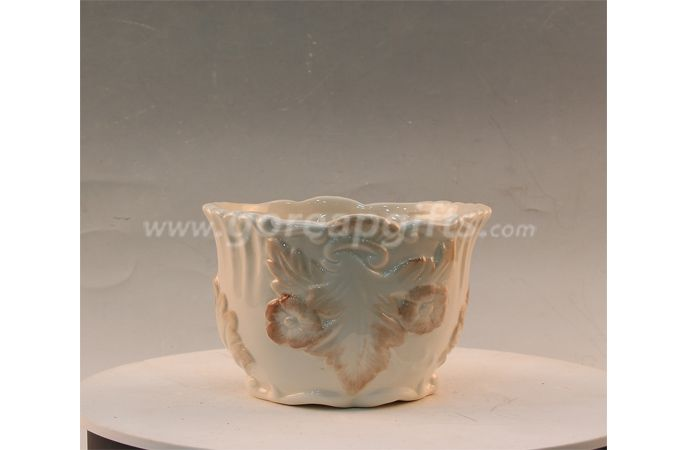 Ancient Mariner design ceramic flower vase matt glaze flower pot for Home&Gaarden