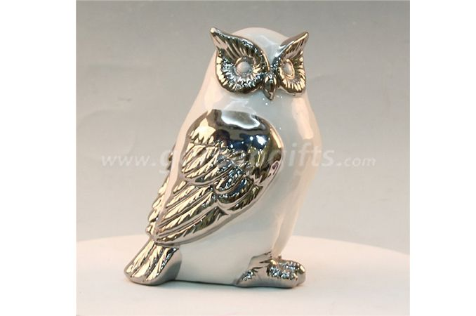 Owl home decoration ceramic ware