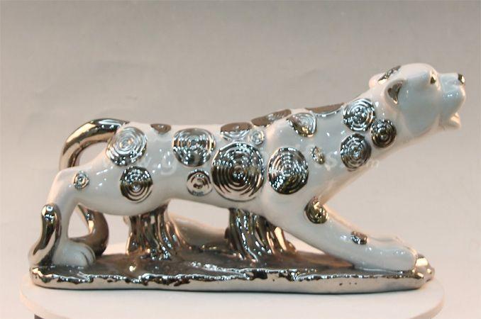 Leopard home decoration ceramic ware
