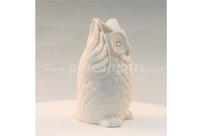 White  hedgehog home decoration ceramic ware